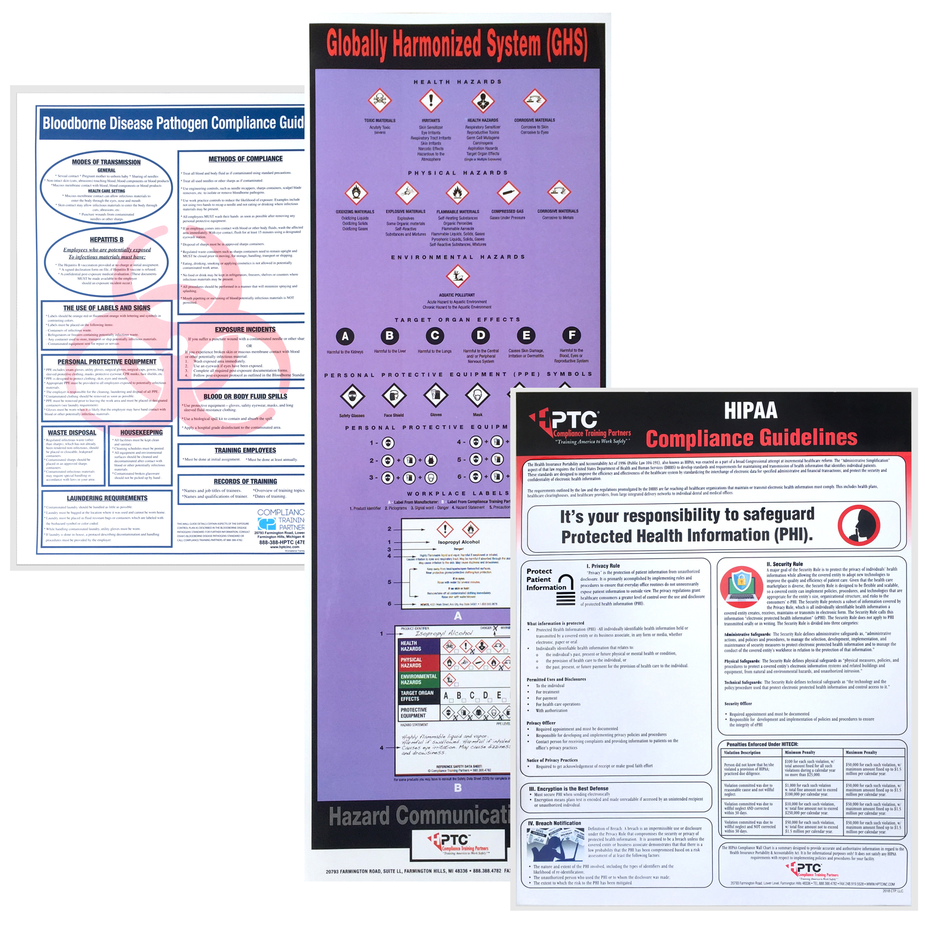 5-page 10 wall chart combo posters